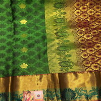 Green colour Saree