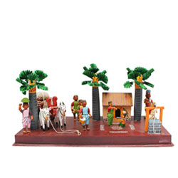 The beautiful Kondapalli Village set represents the different lively activities of a typical village Aprox 6 to 8 inch hegith - Medium height , lead time 2 working days.