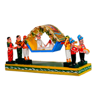 Pallaki has always been an important element of our culture. The toy set shows men and women accompanying a pallaki during the traditional marriage vows, which is so fascinating and captivating!