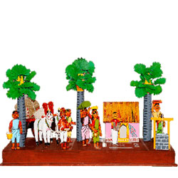 Recreating the best scenes from rural life in the form of toys is an art which can only be mastered Aprox 6 to 8 inch hegith - Medium height , lead time 2 working days.