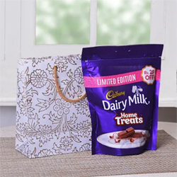 Cadbury Dairy Milk MIni Treats PackWhite Printed Goodie Bag