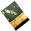 Pattu Parikini :Pattu Parikinis :Leafy Green colour pattu parikini with goldem gari border,for kids of Age of 6-12 Years. Kindly mention the colour of your preference on the order form at space provided for special instructions.