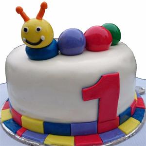 Catepillar Fondant Cake
