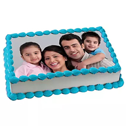 1kg pineapple Photo square Cake with a fresh cream. 