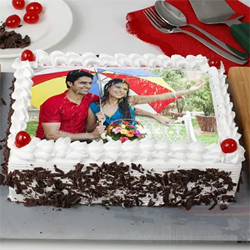 Personalized Black Forest Photo Cake 1.5kg