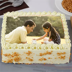 Personalized  Special Creamy Butterscotch Photo Cake 1.5kg, Cakes to Delhi