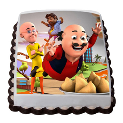 wonderful Motu patlu photo cake for your wonderful birthday boy.
