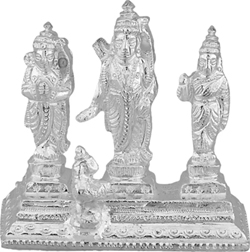 Lord Ram Sita Hanuman Idol Product Features: Silver Weight:107 Grams (Apx) Silver Purity : 90% 3 working days