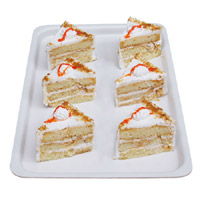 Butterscotch Pastries - 6 Pcs Delicious yummy moist creams are encompassed in 6 fresh Butterscotch Pastries