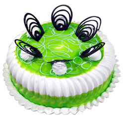Pista Flavour Cake decorated Pista flavour jell 1kg , Cakes to Delhi