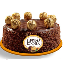 Ferrero Rocher chocolates, this 1 kg cake also makes for an excellent gift, Cakes to Bangalore