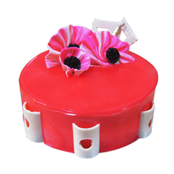 Strawberry Round  shaped cake is a perfect gift for someone who loves strawberry. It is suitable for all occasions and ages, Cakes to Delhi