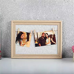 Surprise your loved ones in a unique way on their special day with this cool personalized photo frame.