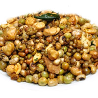 It contains a blend of spices that may include coriander and badam. It is a spicy almond snac - 1 kg