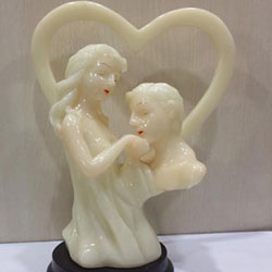My Love :valentines day Show Pieces marble powder made, <br> 4 - 5 inch height.  Delivery lead time 2 to 3 working days