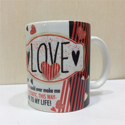 Mug with  love message, Valentine's day gift idea, delivery lead time 2 to 3 working days .