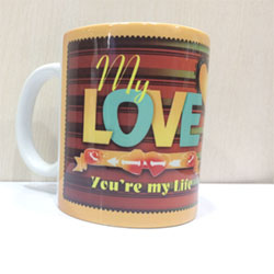 Mug with My Love message, Valentine's day gift idea, delivery lead time 2 to 3 working days .