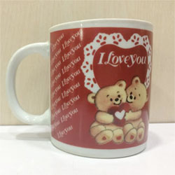 Mug with I love you message, Valentine's day gift idea, delivery lead time 2 to 3 working days .