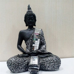 Lord Buddha Idol, 4 inch height approx. Delivery lead time 2 to 3 working days
