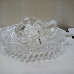 glass tortoise with bowl Luck Glass Tortoise Auspicious Work Table Desk  <br>  4 inch height approx. Delivery lead time 2 working days