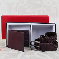 This special combo consists of a leather wallet and a canvas belt Wallet - Standard Size Braided Belt - Universal Size 2 to 3 working days