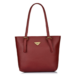 Synthetic material maroon colored handbag 33 centimeters height x 40 centimeters length x 11 centimeters width 2 to 3 working days