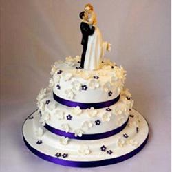 4kg vanilla  Non pastry fondant design 2step Non pastry cake with couple doll