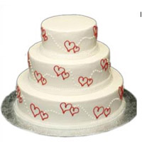 Wish your Dear one on their special moments with this beautiful 5kgs cake to sweeten their mouth. 3 tier App. 5kgs.