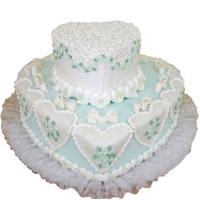 2 Tier Butter scotch cake  Heart Shaped Cake 4 kg