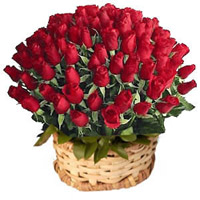 Send these 100 lovely Red Roses in a basket to your dear ones in India and make their day truly memorable. The bright and vibrant color of the roses will definitely cheer up your loved one in no time.
