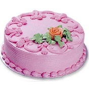 1kg Birthday Cake - Strawberry flavour - Butter Cream - Non Pastry