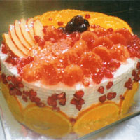 Premium Frish fruit Executive cake flaour : Fresh fruit, Weigh : 1kg, Cakes to Delhi