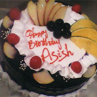 Premium Black forest with fruits Executive cake 
