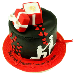 Engagement special Chocolate Cake - with gum-paste design. 4kg, Cakes to Bangalore