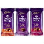 Cadbury Silk Chocolates 5 Bars - Weight-65gr