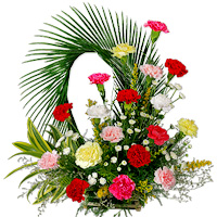 15 Arrangement of colorful carnations, chrysanthemums and fillers is the perfect way to express your gratitude and thanks to someone special., Flowers to Bangalore