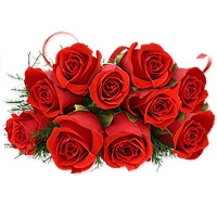 12 Luxurious arrangement of gorgeous red roses will add style and class to your loved ones day, Flowers to Chennai