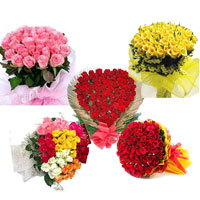 100 Roses in a Heart Shape basket 