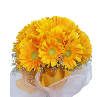There are probably a million reasons this is such a popular bouquetof ted bright 24 yellow gerberas , Flowers to Bangalore