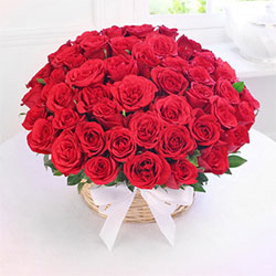 100 Red Roses in This beautiful arrangement of red roses, Flowers to Bangalore