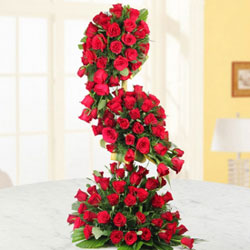 Pure romance, pure tradition, pure red roses,Send this 200 red roses long arrangement to someone you love, because, with roses like these, they're sure to love you back., Flowers to Chennai
