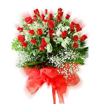 Beautiful 50 red roses bouquet. Send this beautiful 50 red roses bouquet to your beloved Roses colour may vary as per availability., Flowers to Bangalore
