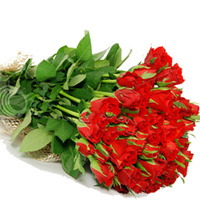 Send this beautiful 24 red roses bouquet to your beloved. Roses colour may vary as per availability., Flowers to Chennai
