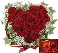 Express your innermost feelings to her with this heart shape arrangement