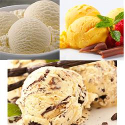 Ice cream Butterscotch family pack - 700 ml + Ice cream Choco-Chips - 750 ml+ + Vanilla family pack - 700 ml