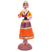 Dancing Doll - Kondapalli Dolls - Aprox 10 inch hegith - Weight - 200 gms, lead time 2 working days.