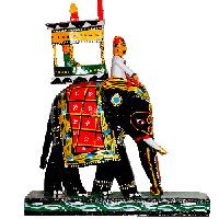 Ambari Elephant - Kondapalli Dolls - Aprox 8 inch hegith - Medium height , lead time 2 working days.