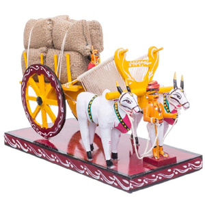 Natural Bullock Cart - Kondapalli Dolls - Aprox 10 inch lenght and 6 inch - Medium height , lead time 2 working days.