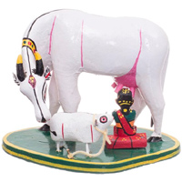 Milking the Cow - Kondapalli Dolls - Aprox 8 inch heigth , lead time 2 working days.