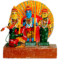 Ram Parivar - Kondapalli Dolls - Aprox 8 inch height , lead time 2 working days.